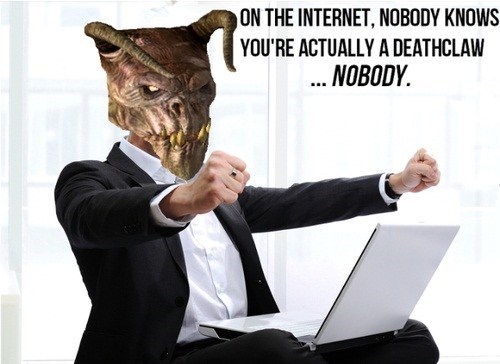I Wonder What a Deathclaw Wants to Do on the Internet