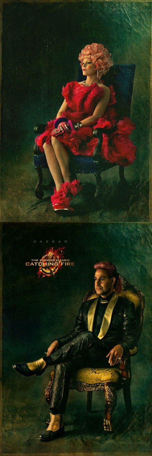 "Effie Trinket and Caesar Flickerman Get Capitol Portraits for ""Catching Fire"""