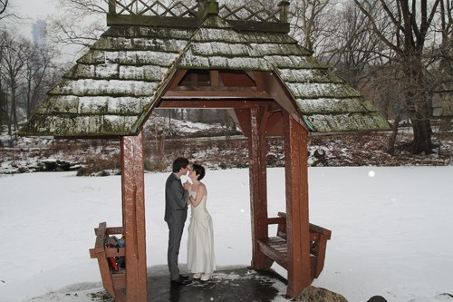 No Matter the Weather, Central Park is the Place to Marry