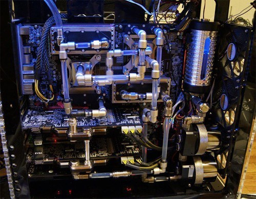 Straight line watercooling