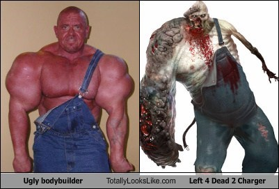 Ugly bodybuilder Totally Looks Like Left 4 Dead 2 Charger