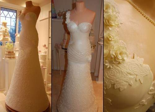Mmm... Wedding Dress Cake (Drool)