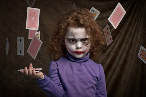 makeup,joker,the joker,deck of cards