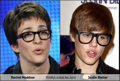 Rachel Maddow Totally Looks Like Justin Bieber