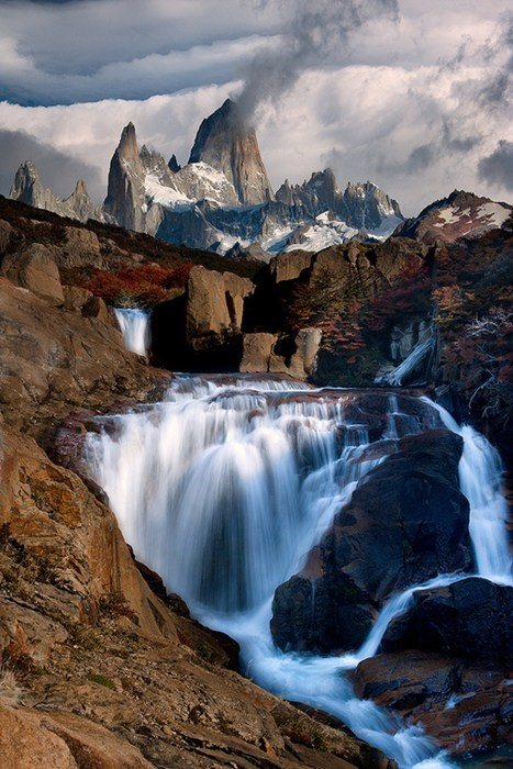 The Shimmering Falls of Laguna Capri, Patagonia