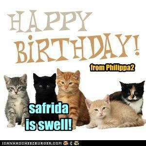 Happy Birthday to safrida!