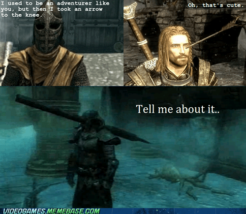 traps,arrow to the knee,Skyrim