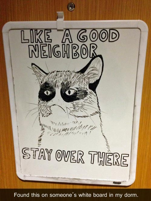 A Good Neighbor is a Completely Nonexistent Neighbor.