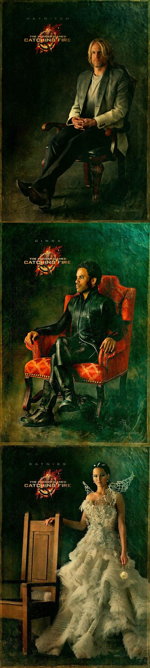 "Haymitch, Cinna, and Katniss Get Victory Potraits for ""Catching Fire"""