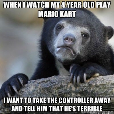 Mario Kart,Confession Bear,video games,g rated,Parenting FAILS
