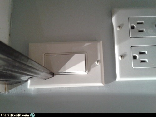 Misplaced Light Switch
