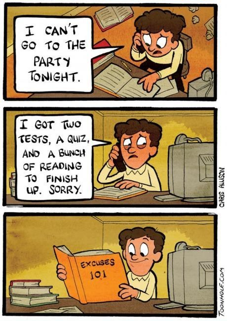 excuses,comics,toonhole,Party,busy