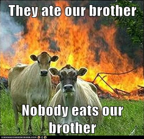 They ate our brother  Nobody eats our brother