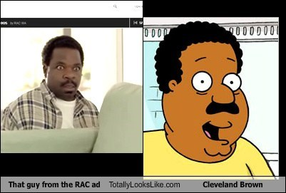 That Guy From the RAC Ad Totally Looks Like Cleveland Brown