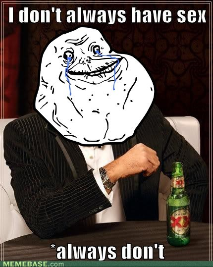forever alone,the most interesting man in the world