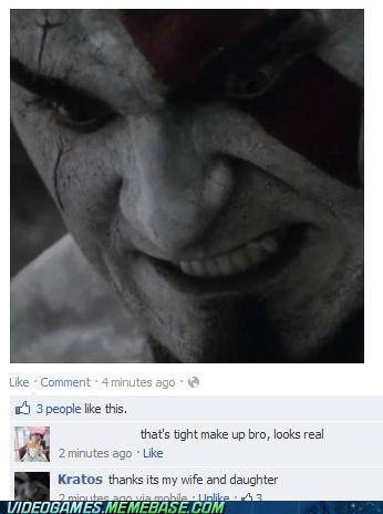 Makeup savy Kratos