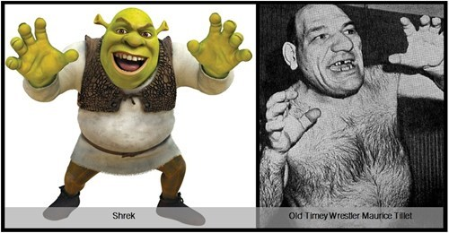 Old Timey Wrestler Maurice Tillet Totally Looks Like Shrek