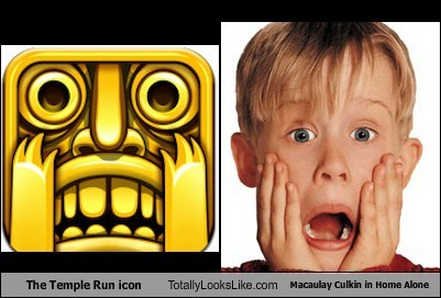 The Temple Run Icon Totally Looks Like Macaulay Culkin in Home Alone