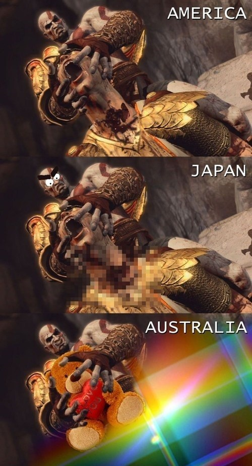God of War seems so different down under.