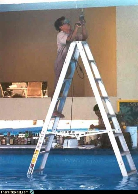 Place Your Ladder on a Firm, Dry Surface
