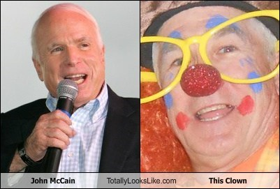 John McCain Totally Looks Like This Clown