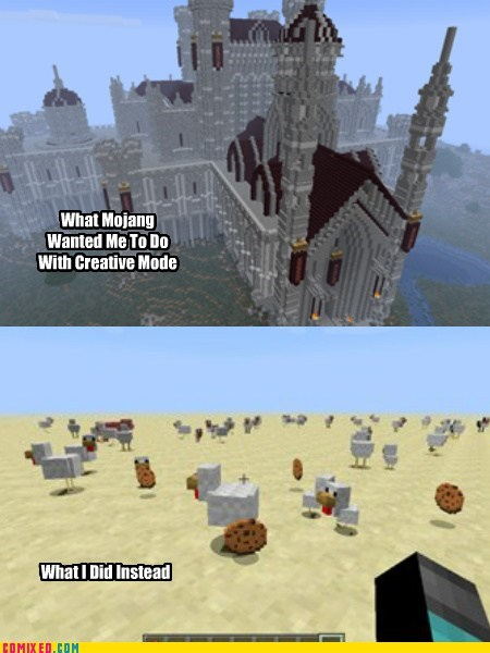 x x everywhere,minecraft,chickens,video games