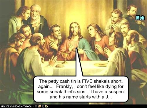 jesus,last supper,paying the bill