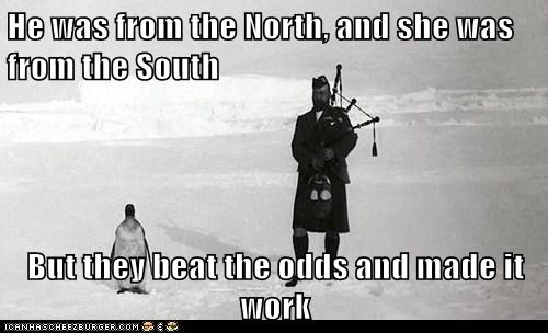scotsmen,penguins,bagpipes,ice