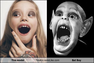 This Model Totally Looks Like Bat Boy