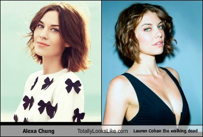 Alexa Chung Totally Looks Like Lauren Cohan the walking dead