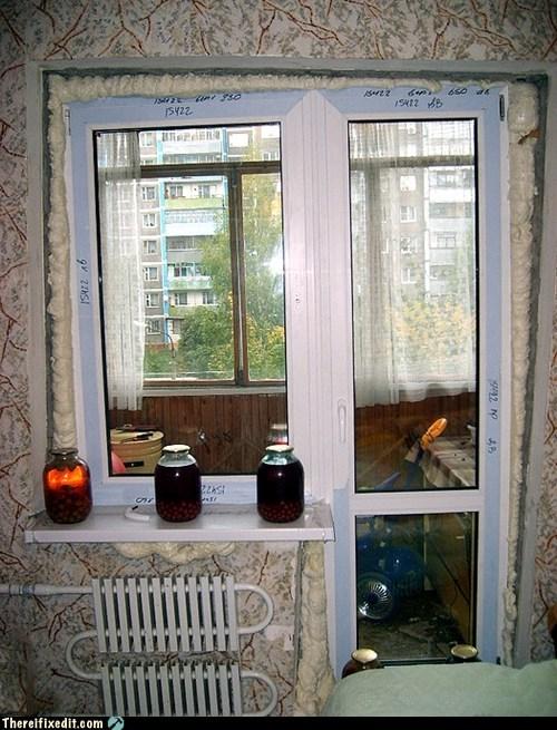 cramped space,doorway,window