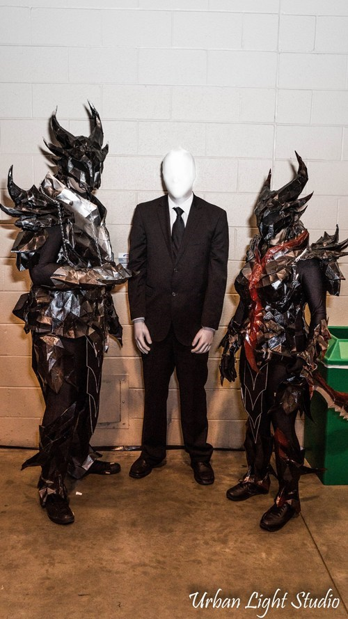 crossover,slender man,Deadric Armor,cosplay,video games,Skyrim