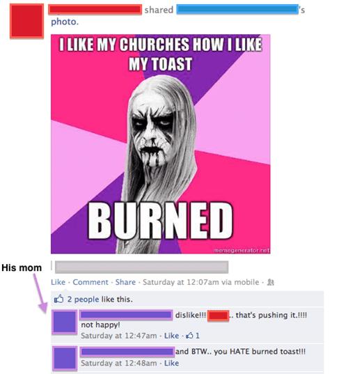 metal,moms,parenting,church burning,black metal,failbook