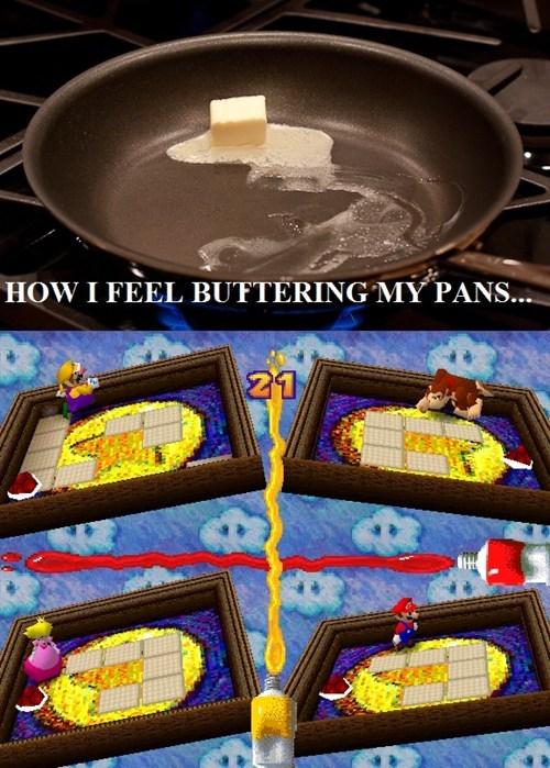 mario party,cooking,butter,minigames