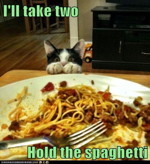 I'll take two  Hold the spaghetti