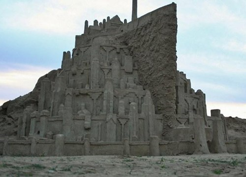 minas tirith,Lord of the Rings,sand castles