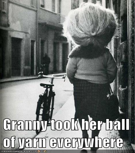 hair,granny,knitting,yarn