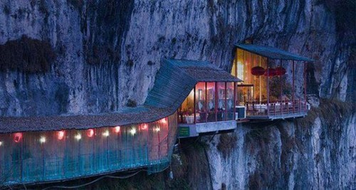 Would You be Brave Enough to Eat at This Cliff-Side Restaurant?