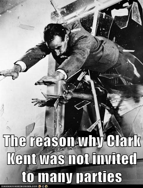 Dammit, Clark! Use a Door!