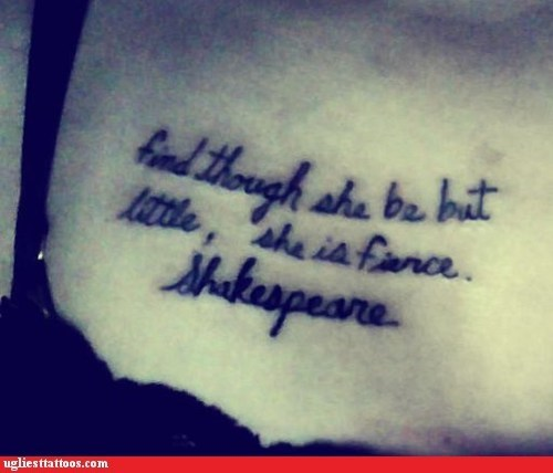 expressions,shakespeare,text tattoos