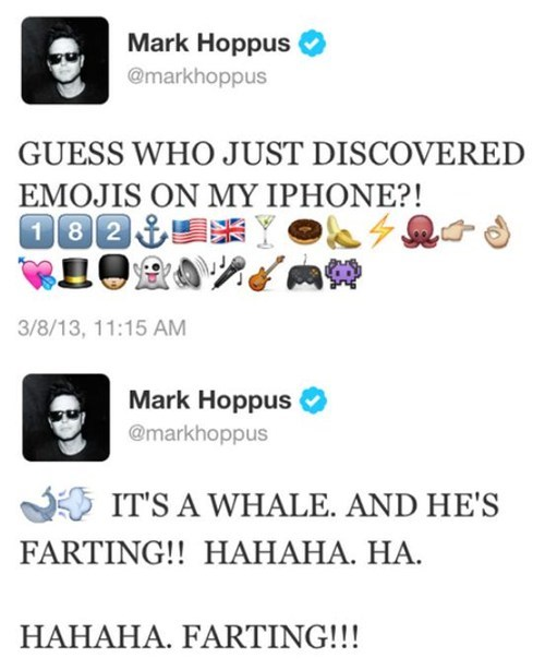 mark hoppus,emojis,blink 182