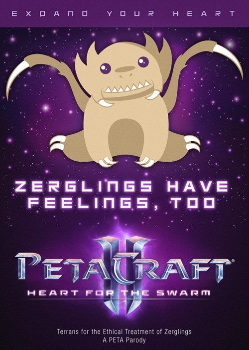 PETA Does it Again: Starcraft II Edition