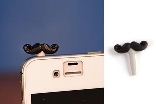 mustache,phone,proper