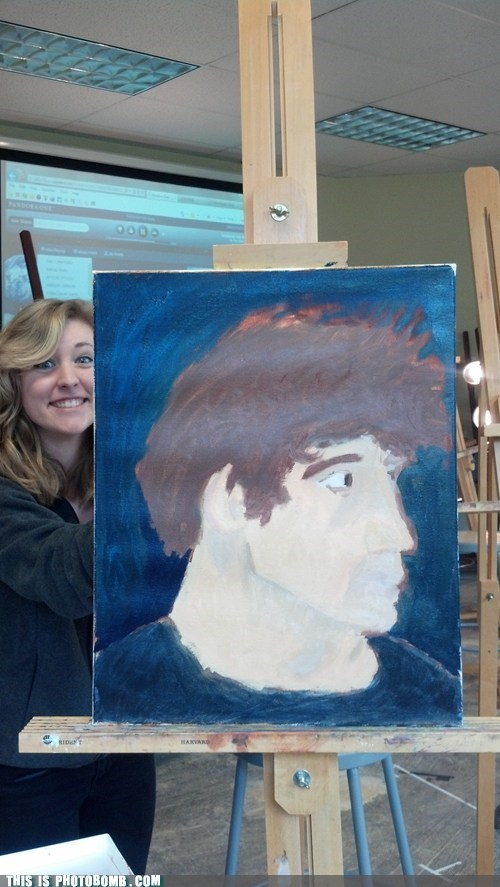 Photobombing Your Own Painting