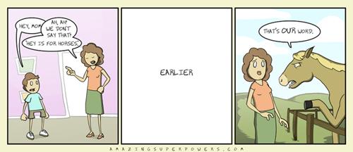 Hey,comics,horses