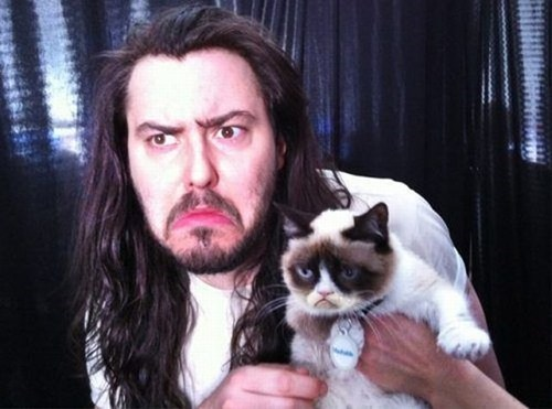 andrew wk,Grumpy Cat,frowning