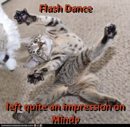 Flash Dance  left quite an impression on Mindy