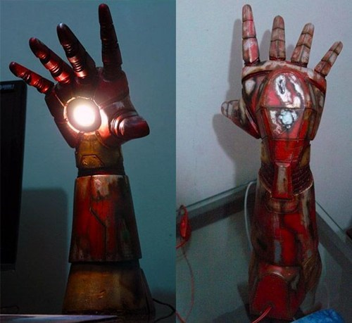 lamps,iron man,iron man lamp
