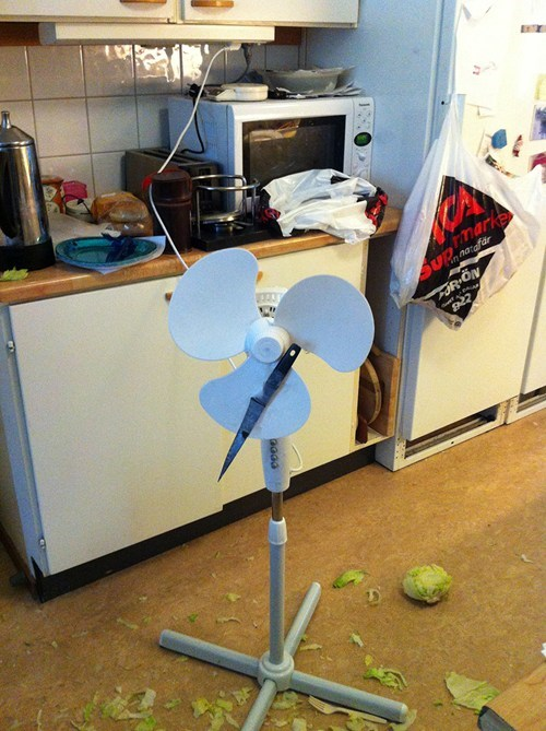 cooking,lettuce,knife,fan,kitchen,g rated,there I fixed it