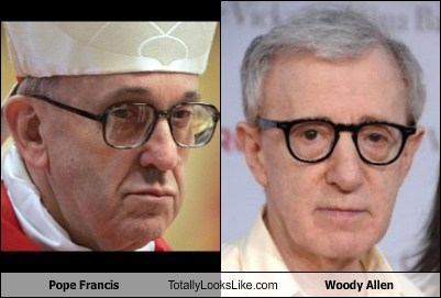 Pope Francis Totally Looks Like Woody Allen